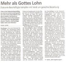 """Pressebericht """"Tarifverträge fallen nicht vom Himmel"""""""