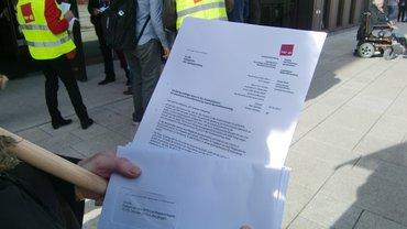 Bilder der Aktion zur Personalbemessung auf dem Landesparteitag der SPD in Reutlingen