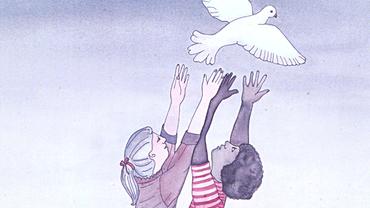 Motiv eines Plakats der DGB-Jugend zu einer Antikriegstagsveranstaltung 1981 in Essen