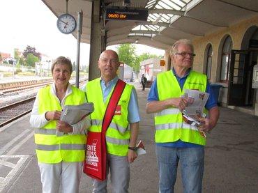 Pendler-Aktion am 31.05.2017: Rente muss reichen!