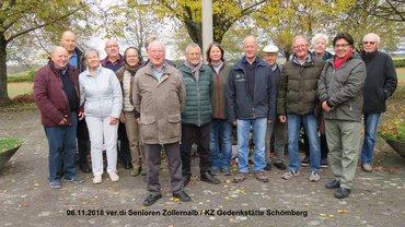 Besichtigung des KZ-Friedhofs und der KZ-Gedenkstätte Schömberg am 06.11.2018