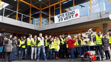 Warnstreik an der Hochschule Reutlingen am 23.01.2019