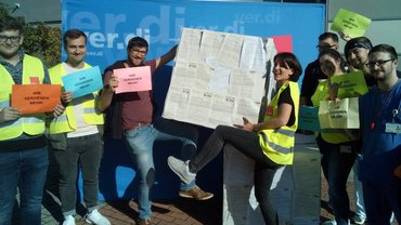 Tarifrunde Uniklinika 2019: Protestkundgebung an der Uniklinik Tübingen am 23.10.2019