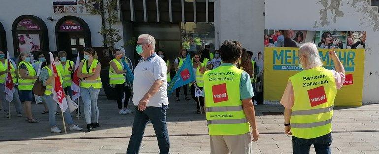 Vom Applaus kann man nicht leben ver.di-Kundgebung in Albstadt