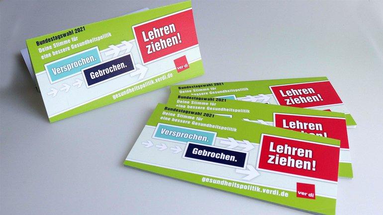 Flyer: Gesundheitspolitische Forderungen - Bundestagswahl 2021