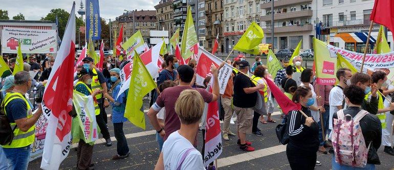 Aufstand der Gesundheits- und Sozialberufe am 11.09.2021 in Mannheim